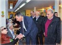 El Consejero Olivan visita la Residencia de Tamarite