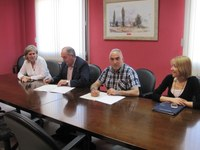 FIRMA DEL CONVENIO 2015 ENTRE LA CÁMARA DE COMERCIO DE HUESCA Y LA COMARCA DE LA LITERA