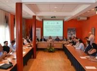 La sede de la Comarca de La Litera fue el lugar elegido para un nuevo encuentro entre la Federación de Empresarios de Somontano de Barbastro, Cinca Medio y Litera, y representantes de la Asociación Nouvelle Traversée des Pyrénées