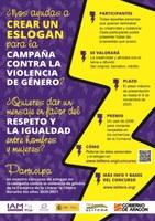 ¿Nos ayudas a CREAR UN ESLOGAN para la campaña contra la violencia de género?
