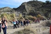 Un centenar de personas disfrutan de los atractivos medioambientales de la XII Marcha Senderista de La Litera